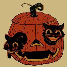 Retro Halloween, Halloween Tags, Image Halloween, Vintage Halloween Images, Halloween Icons, Vintage Halloween Decorations, Halloween Drawings, Theme Halloween, Psychedelic Art