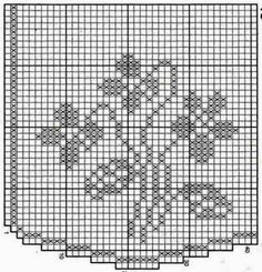 Kira scheme crochet: The flowers on the curtains