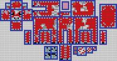 Minecraft Mooshroom pattern perler beads by Pinknihon on deviantART - Poke Ball Melty Bead Patterns, Hama Beads Patterns, Beading Patterns, Minecraft Pattern, Hama Beads Minecraft, Minecraft Houses, 3d Perler Bead, Pearler Beads, 3d Figures