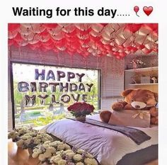 ballons, bf, birthday, boyfriend, couple, cute, flower, flowers, gf, gift, girlfriend, love, party, perfect, present, red, rose, roses, teddy bear, white, stuff animal Birthday Goals, Happy Birthday, Birthday Wishes, Girl Birthday, Birthday Morning, Cute Relationship Goals, Cute Relationships, San Valentin Ideas, Birthday Gifts For Girlfriend