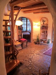 Cob house interior http://naturalbuildingencyclopedia.tumblr.com/post/109897223593/an-exceptionally-cool-cob-house-located-on-mayne