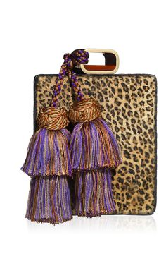 Leopard Print Hair calf Perfume Clutch by Tonya Hawkes for Preorder on Moda Operandi