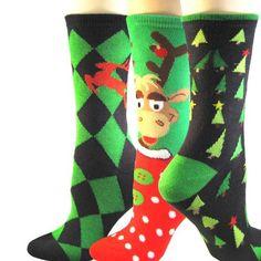 Soxnet Christmas 3 Packs Crew Socks, Diamond & Reindeer, Allover Trees, Reindeer Soxnet,http://www.amazon.com/dp/B009ITDHLI/ref=cm_sw_r_pi_dp_cV9Ksb1F553HBG7P