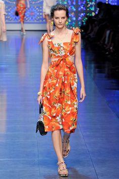 Dolce & Gabbana Spring 2012 Ready-to-Wear Fashion Show - Sara Blomqvist