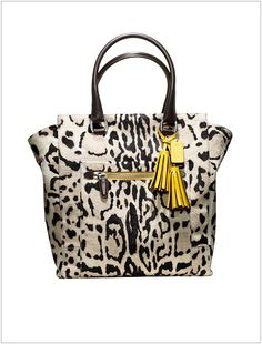 For The Glamour Girl: Coach Ocelot Hair-calf Tote, $1600