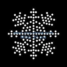 The Best Selling Products Rhinestone Snowflake Hotfix Motif