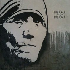 """Mother Theresa """"the call within the call"""" By DENAMBRIDE (Concrete Canvas)"""