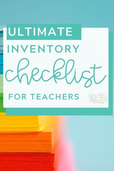 You need a better way to take inventory of what you still have, what you need to prep a purchase order for, or what you need to keep an eye out for over the summer. This is it. #classroom #teacher #inventory #checklist