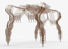 Bartlett School of Architecture tutor and designer Stefan Bassing has used digital modelling to create a pair of tables, made from repetitive elements