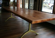 Modern Rustic Dining Table by EchoPeakDesign on Etsy, $2600.00