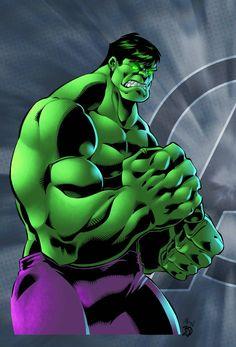 PradoInkworks Signed Hulk Smash Full Colored Print Dan Prado