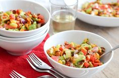 Roasted corn and avocado salad