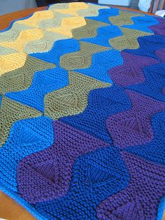 Blind fish baby blanket - Escher inspired  - pattern by Megwood55...free pattern