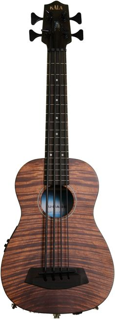 Kala U Bass Exotic Mahogany. A Ukulele acoustic-electric bass with standard tuning and upright bass sound.