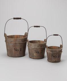 Barrel Bucket Set