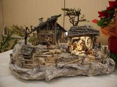 Image result for krippe Nativity Crafts, Christmas Nativity, Christmas Time, Xmas, Wooden Pegs, Fairy Houses, Barn Wood, Diorama, Portal