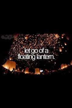 Floating lanterns- bucket list for summer