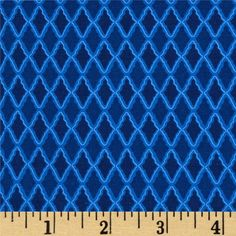 Harmony II Dalia's Diamonds Imperial from @fabricdotcom  From David Textiles, this fabric is perfect for quilting, apparel and home decor accents. Colors include shades of blue.
