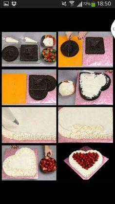 A Heart cake idea♡