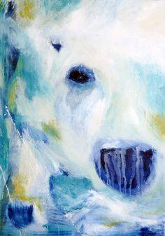 Doo it - just doo it: Hov, der var en isbjørn derinde... (Can you see it?, 70 x 100 cm, acrylics)