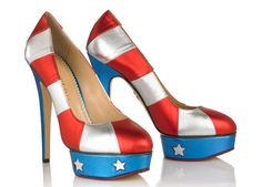 Charlotte Olympia Patriotic Shoes - Fourth of July Style - ELLE