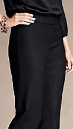 Talbots Petites Signature Black Stretch Women's Ankle Pants Size 4P X 26 NWT $99 #Talbots #CasualPants