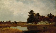 "After the death of painter John Kensett, his brother Thomas donated 38 of his works; a large group of landscapes, including this one, were based on sketches made the summer before, thus dubbed ""Last Summer's Work."" This one depicts the meadows and salt marshes near Contentment Island, Conn. Use the code ""VP20"" during checkout at www.vintprint.com for 20% off all orders!"