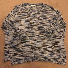 Silence + Noise Marled Blue and White/Grey Sweater Gently worn. Great condition. From Urban Outfitters. silence + noise Sweaters Crew & Scoop Necks