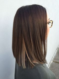 Square Length Haircut Color Going Darker Square Length Cut Color Going Darker