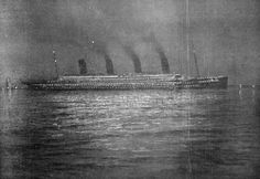 A couple haunting nighttime photos of the RMS Titanic (from old postcards, which is why they look a little drawn). - Imgur