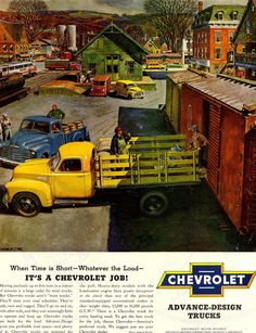 vintage chev truck ad                                                                                                                                                      More