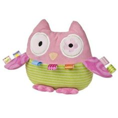 The cutest owl just flew into the Taggies world and we are totally smitten. Soft corduroy, fun stripes, and printed plush abound on this fashionista, and Oodles Owl wears her style everywhere. With tr
