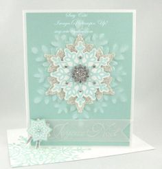 FROSTED SNOWFLAKE by Tootsy - Cards and Paper Crafts at Splitcoaststampers