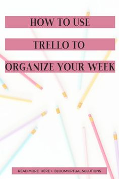 When you are new to working from home, getting organized can be easy with Trello to Organize your Week. Use this simple tool to keep you on track! Business Planner, Business Goals, Business Tips, Trello Templates, Good Time Management, Project Management, Planner Board, Email Marketing Tools, School Planner