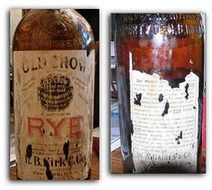 H.B. Kirk & Co., New York, NY, exclusive bottlers of William Gaines' Old Crow Rye Whiskey of Woodford Co. Kentucky