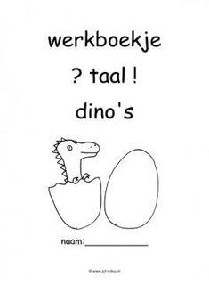 Dit werkboekje in verschillende thema's kun je downloaden op de website van Juf Milou. Dinosaur Illustration, School Projects, Worksheets, Letters, Kids, Children, Fun, Dinosaurs, Young Children