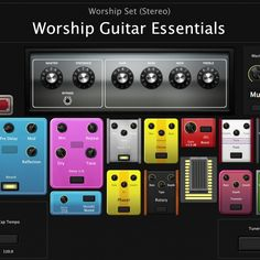 $20 The ultimate MainStage 3 template for guitar players. NO ADDITIONAL SOFTWARE REQUIRED! Whether you're a professional looking for a virtual solution for practice or a beginner in a low budget, Worship Guitar Essentials is for you. Custom layout, designed from the guitar player's perspective. Full description below.