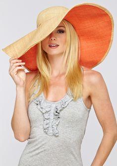 LOVE that it's colored underneath $30 on ideeli #hat #straw #beach