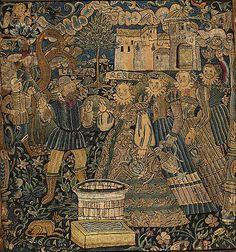 Panel ca. 1600 Culture: Swiss, Zurich Medium: Wool, silk and metal thread on flannel Dimensions: H. 23 x W. 20 1/2 inches (58.4 x 52.1 cm)