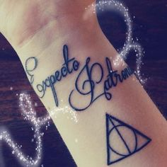 Harry Potter Tattoo  love the font. Honestly I love everything about this.