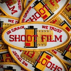 In Grain We Trust - Shoot Film #patch edition of 200, designed by @themikepadua, link to store in his bio  #patchgame #camera #photographer #fuckpixels