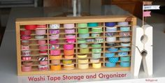 It's January – and time for organization, right? And whether you have 5 rolls or 500 (I'm scared to count), YOU could benefit from these awesome Washi Tape Organization Ideas! Spools and shutters and