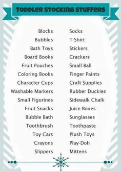 Toddler stocking stuffer ideas