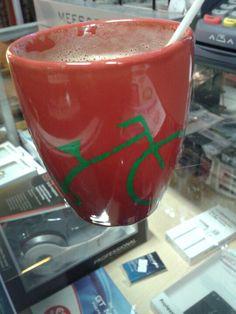 Gaaf! Gratis koffie van ESC AZIMI in Apeldoorn! Bedankt!