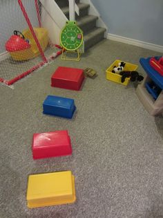 Indoor Obstacle Course Ideas for Boys HowToRunAHomeDaycare.com #fun play for boys #indoor rainy day fun #active play