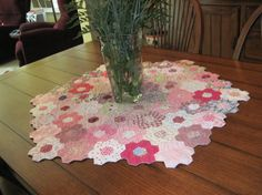 hexagon tablecover by quiltsbybabs on Etsy