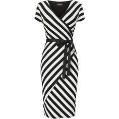 Coco Stripe Wrap Dress