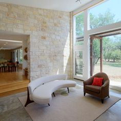 Shed Conversion ideas / Walkabout by Nick Deaver Shed Conversion Ideas, Hut House, Open Concept Home, Muebles Living, Living Comedor, Walkabout, Stone Houses, Architect Design, Concrete Floors
