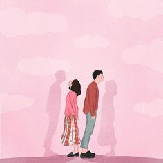38 Ideas For Funny Illustration Art Couple Illustration, Funny Illustration, Sad Girl Art, Cover Wattpad, Tout Rose, Cute Couple Art, Girl Artist, Fanarts Anime, Aesthetic Art
