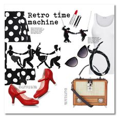 """Retro time machine"" by eva-van-aardbei ❤ liked on Polyvore featuring Collectif, American Vintage, Dolce&Gabbana and Givenchy"